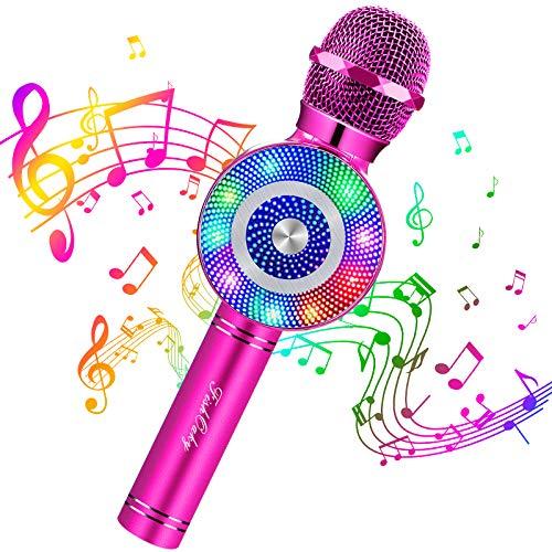 FISHOAKY Karaoke Mikrofon Kinder und Erwachsene, 4 in 1 Bluetooth Mikrofon Karaoke Tragbarer Drahtlose...
