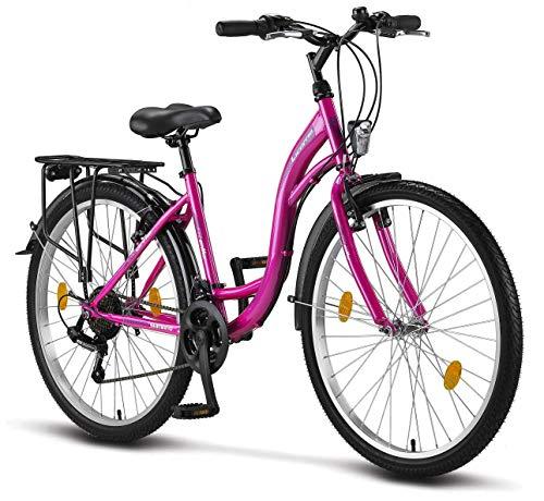 Licorne Bike Stella Premium City Bike in 26 Zoll - Fahrrad für Mädchen, Jungen, Herren und Damen - 21...
