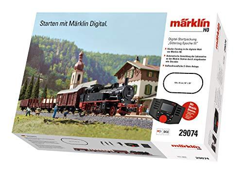 Märklin 29074 BR 74 Digital-Startpackung Güterzug Epoche 3, Spur H0 Modelleisenbahn, viele...