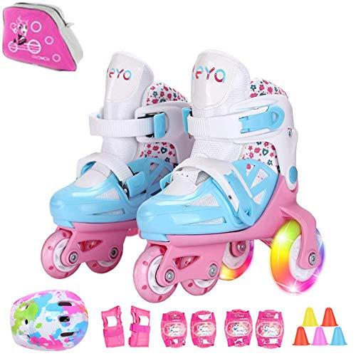 Sumeber Inline Kinder Skates Tri-Linie mit veränderbarer Länge Kid Jungen Mädchen Rollschuhe...