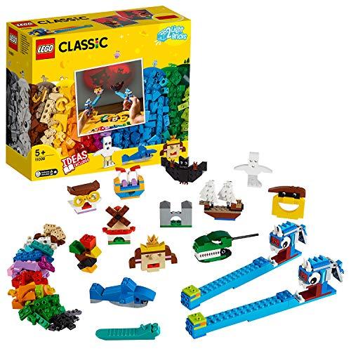 LEGO 11009 Classic Bausteine - Schattentheater, Bauset, kreativer Schattenspiel-Spaß für Kinder ab 5...