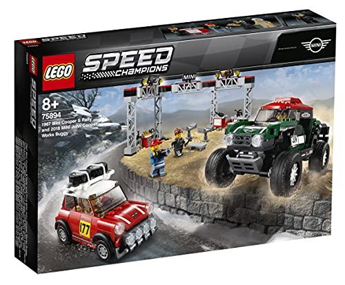 Lego 75894 Speed Champions Rallyeauto 1967 Mini Cooper S und Buggy 2018 Mini John Cooper Works,...