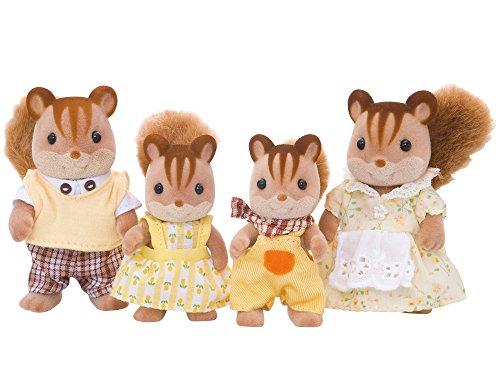 Sylvanian Families 4172 Walnuss Eichhörnchen Familie - Figuren für Puppenhaus