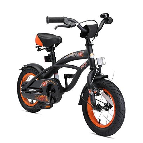 BIKESTAR Kinderfahrrad für Jungen ab 3-4 Jahre | 12 Zoll Kinderrad Cruiser | Fahrrad für Kinder Schwarz...