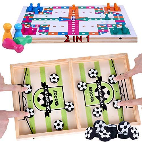 Schnelles Sling Puck Fast Sling Puck Spiel Brettspiele Checkers 2 in 1 Sling Games Table Desktop Battle...