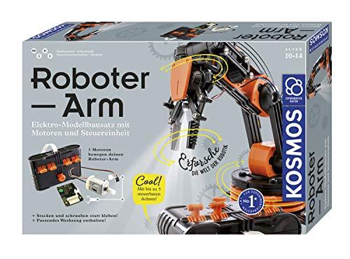 KOSMOS Roboter-Arm, Modellbausatz für deinen elektrischen Roboterarm, mit 5 Motoren und Steuereinheit,...
