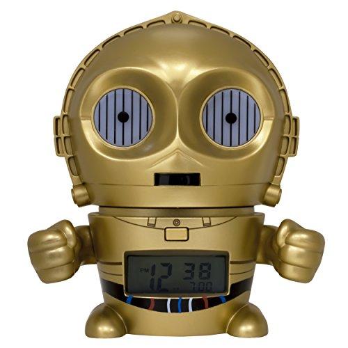 BulbBotz Star Wars 2021418 C3PO Kinder-Wecker mit Nachtlicht und typischem Geräusch , gold/gelb,...