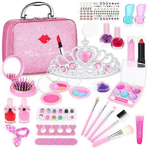 AILUKI Kinderschminke Set 27 Stück Waschbar Real Cosmetic Make Up Set für Mädchen Spiel Spielen...