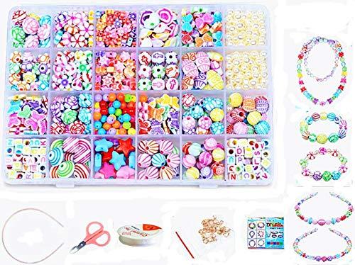 24 Arten Bunte Baby Stringing Perlen Spiel Schnürsystem Perlen Beads Spielzeug DIY Perlenschmuck für...