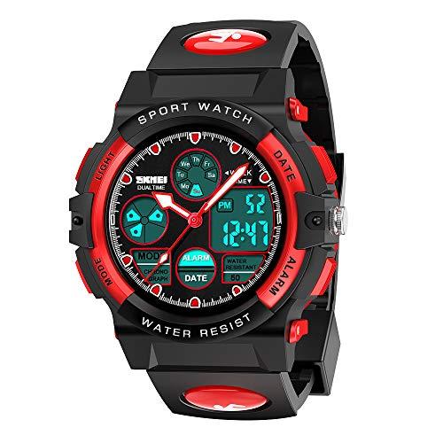 wetepuxi Kinder Armbanduhr Jungen, Jungen Geschenke 5-12 Jahre LED Sportuhr Mit Wecker Uhr Digitaluhr...