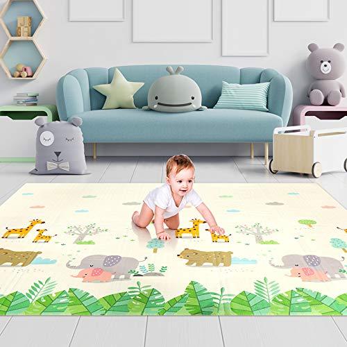 Luchild Baby Spielmatte,Krabbelmatte, Baby Krabbelmatte faltbare baby bodenmatte, umweltfreudlich, XPE...