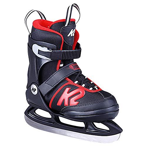 K2 Skates Jungen Schlittschuhe Joker Ice — black - red — EU: 32 - 37 (UK: 13 - 4 / US: 1 - 5) —...