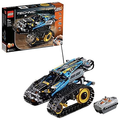 LEGO 42095 Technic Ferngesteuerter Stunt-Racer Spielzeug, 2-in-1-Rennwagen, Modell mit Motorfunktionen,...