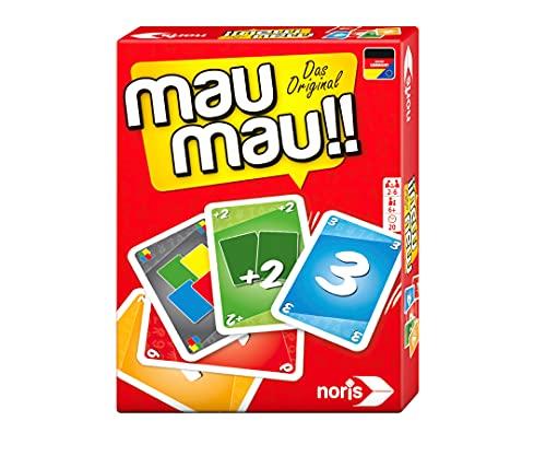 Noris 606264441, Mau Mau, das weltbekannte Kartenspiel mit einem originellen Blatt, für 2 bis 6 Spieler...