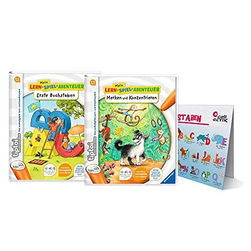 Ravensburger tiptoi ® Bücher Starterset | Erste Buchstaben Buch + Merken und Konzentrieren + ABC...