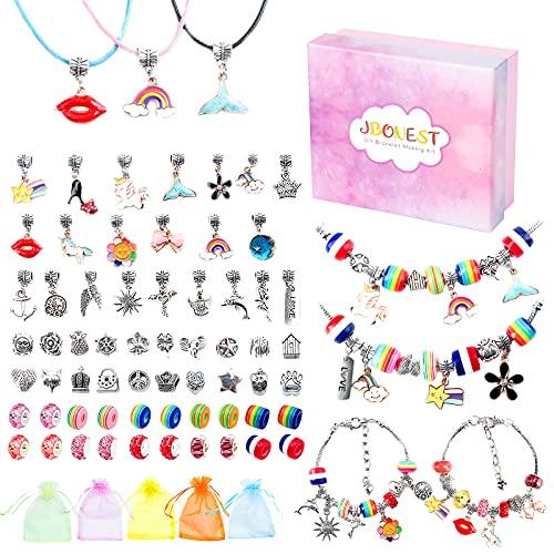 JBonest Mädchen Geschenke 6-12 Jahre - Charm Armband Making Kit DIY, Geschenke für Mädchen Schmuck...
