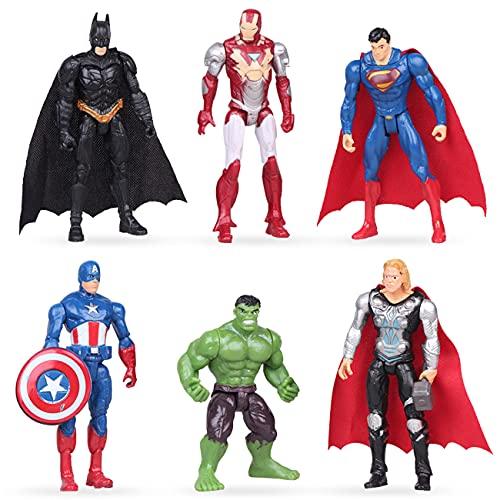 Superhero Cake Topper - Miotlsy 6pcs Avengers Kuchenaufsätze Cake Topper Tortendeko für Superhero...