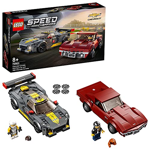 Spielzeug-Autos 'Chevrolet Corvette C8.R & 1968 Chevrolet Corvette' von LEGO Speed Champions