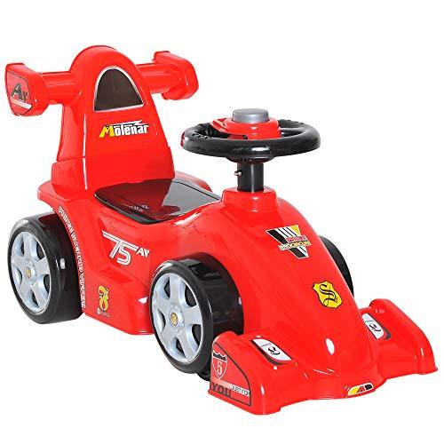 HOMCOM Rutschauto Kinder Rutscher Rennauto Baby Kinderauto Formel 1 Rot L70,2 x B32,5 x H41 cm