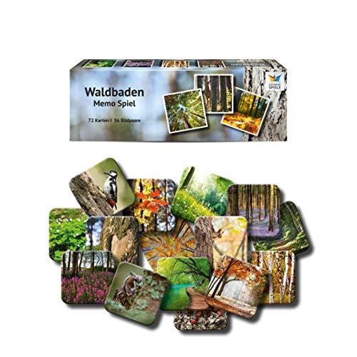 Starnberger Spiele - Waldbaden - Memospiel für Naturliebhaber - Tolles Spiel für die ganze Familie