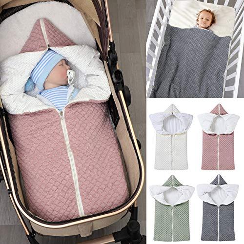 Ponacat Neugeborenen-Babyschlafsack 2-In-1-Wickeldecke mit Durchgehendem Reißverschluss Kleinkind Warmer...