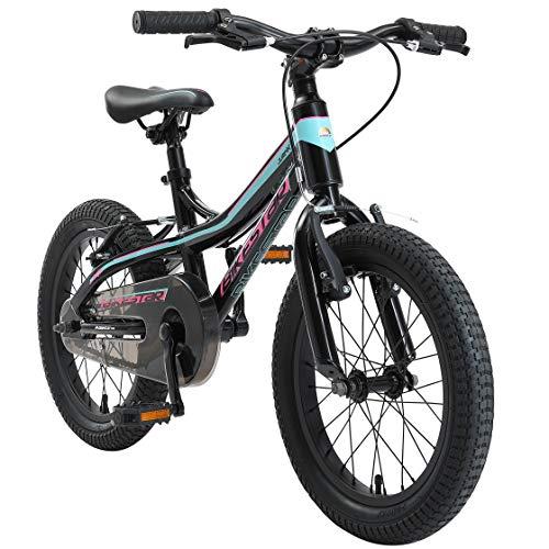 BIKESTAR Kinder Fahrrad Aluminium Mountainbike mit V-Bremse für Mädchen und Jungen ab 4-5 Jahre | 16...