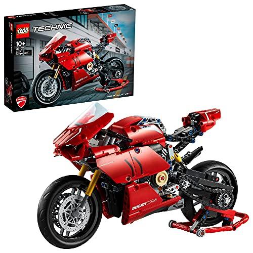 LEGO 42107 Technic Ducati Panigale V4 R Motorrad, Supermotorrad-Schaustück für Sammler, Set für Kinder...