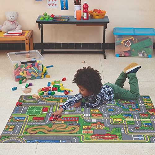 Carpet Studio Teppich Kinderzimmer 95x133cm, Spielteppich Straße Jungen & Mädchen für Schlafzimmer &...