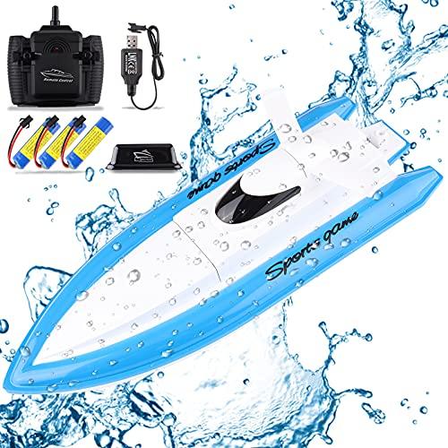 Seamuing Fernbedienung Boot, 2,4 GHZ RC Boot Hochgeschwindigkeits-Funkelektrisches Rennboo mit 3...