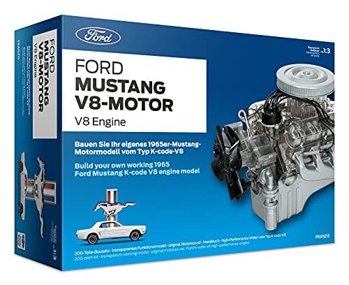 FRANZIS 67500 - Ford Mustang V8-Motor, hochwertiger Modell-Bausatz im Maßstab 1:3, 200 Bauteile zum...