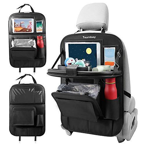 Tsumbay Auto Rückenlehnenschutz, Autositz Organizer mit Müllsack, Rücksitz Organizer mit...