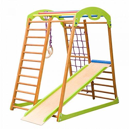 Kinder zu Hause Fitness-Studio 'Babywood' Holzspielplatz, Kletterwand, Kinder zu Hause aus Holz,...