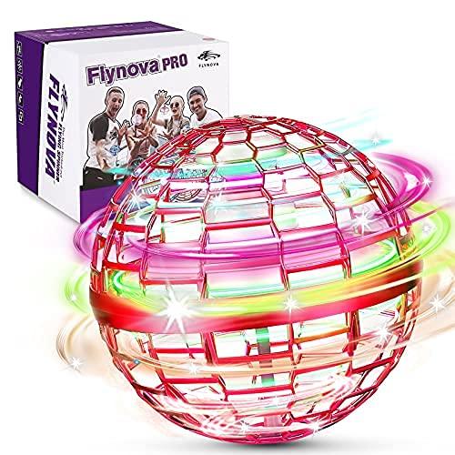 FLYNOVA PRO Flying Orb Spielzeug, 3 Farben Mini Fliegender ball with 360° Flying Spinner UFO Ball,...