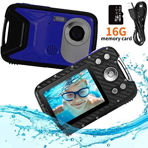 PELLOR Kinder Digitalkamera, 2,8' LCD HD Wiederaufladbare Mini-Kamera Kinderkamera Wasserdicht Spielzeug...