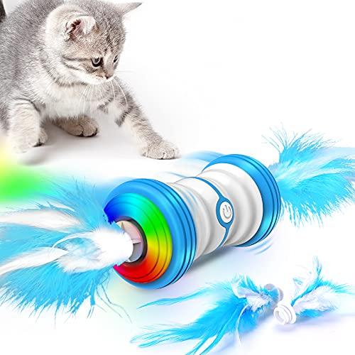 Interactive elektrische Katze Spielzeug, 2021 neueste Auto-Drehen intelligente Katze Spielzeug, Ersatz...