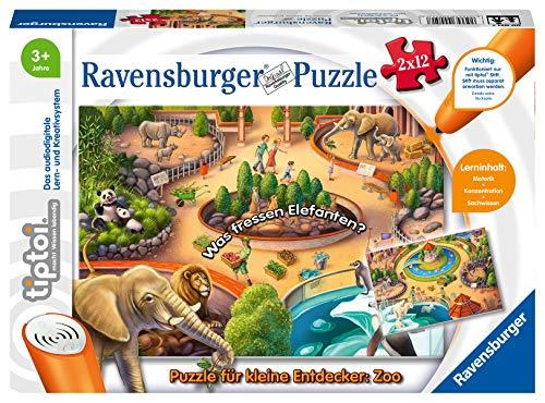 Ravensburger tiptoi 00051 - Puzzle für kleine Entdecker: Zoo / 2x12 Teile Puzzle von Ravensburger ab 3...