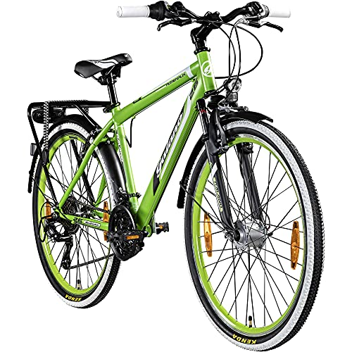 Galano Adrenalin 26 Zoll Mountainbike Hardtail MTB Fahrrad 26' Jugendliche 21 Gang StVZO (grün)