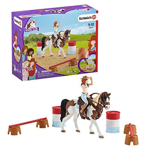 Schleich 42441 Horse Club Spielset - Horse Club Hannahs Western-Reitset, Spielzeug ab 5 Jahren