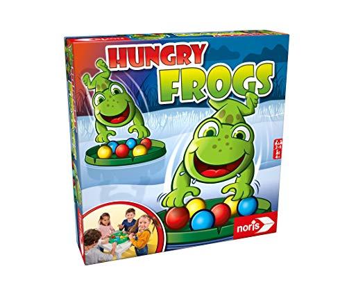 Noris 606061859 - Hungry Frogs, das lustige Fang-und Schnapp Spiel für Groß und Klein, für Kinder ab 4...