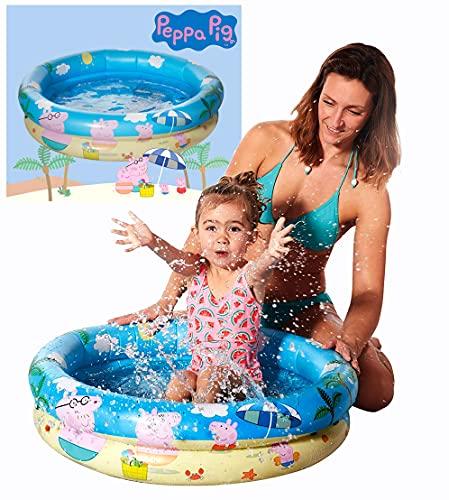 Smart Planet® Peppa Pig Baby Pool / Mini Baby Planschbecken 74 x 18 cm - Kleiner aufblasbarer Pool zum...