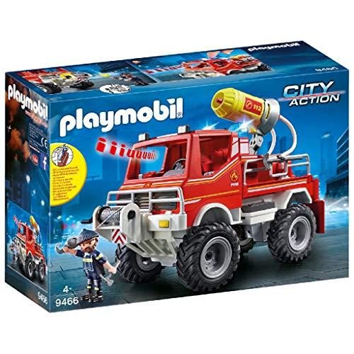 Playmobil City Action 9466 Feuerwehr-Truck mit Licht- und Soundeffekten, Ab 5 Jahren