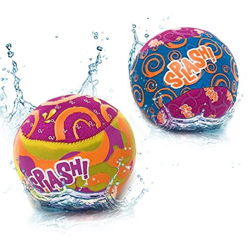 DDS Wasserbälle Sprungball Bouncing Ball - 2 Stück im Set für Kinder und Erwachsene | Extreme Wasser...