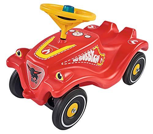 BIG-Bobby-Car-Classic Feuerwehr - Kinderfahrzeug mit Aufklebern in Feuerwehr Design, für Jungen und...