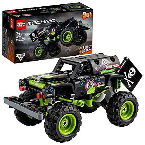 LEGO 42118 Technic Monster Jam Grave Digger Truck-Spielzeug oder Geländewagen Buggy, 2-in-1 Bauset