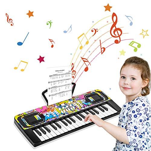 Klavier Keyboard, 37 Tasten Multifunktions-Keyboard Klaviertastatur Elektronischer Einsteiger mit...