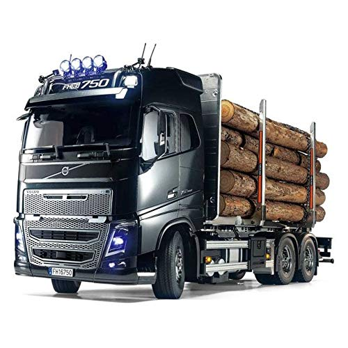 TAMIYA 56360 - 1:14 RC Volvo FH16 Holztransporter, RC-Truck, fernsteuerbarer LKW, Modellbau, Maßstab...