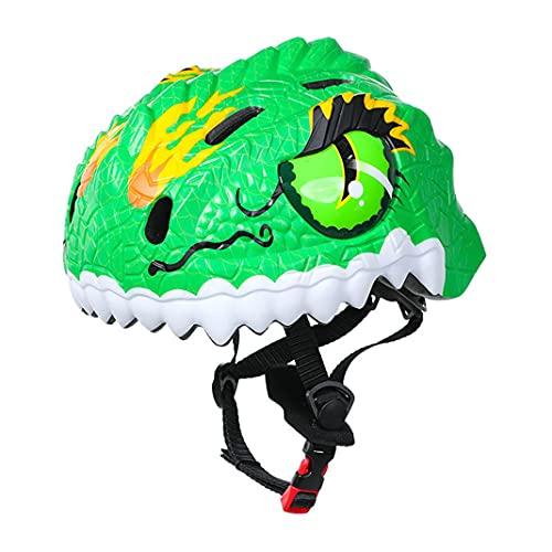 Niedliche 3D Tiere Fahrradhelme für Kinder Dinosaurier Kletterhelm Kinder Skateboard Roller Kleinkind...