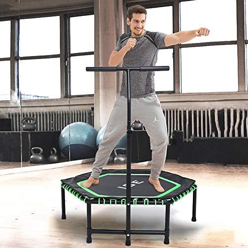 ISE Fitness Trampolin,Trampolin für Jumping Fitness Ø 122 cm höhenverstellbarer...