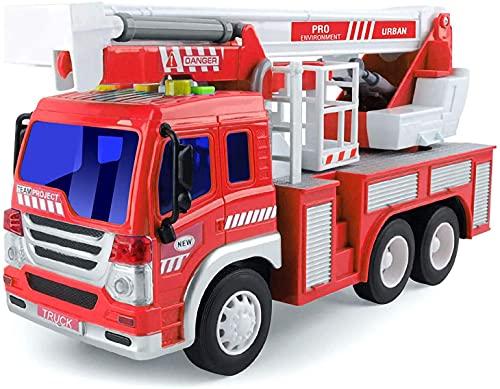 GizmoVine Feuerwehrauto, Reibungskraft Spielzeug Auto, Feuerwehr Spielzeug, mit Leiter, Licht & Sound,...
