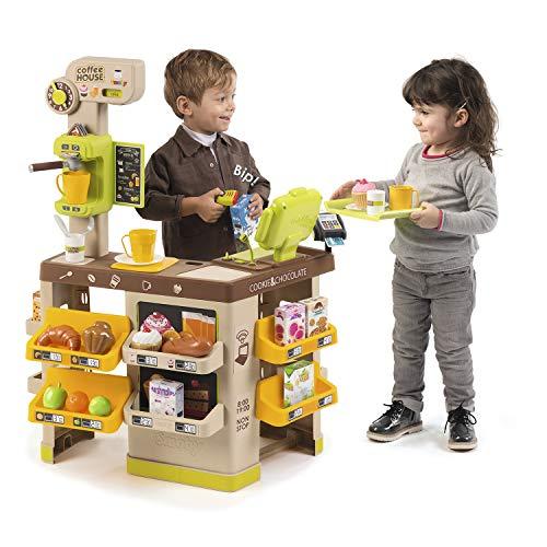 Smoby 350214 House, Coffee Shop, Kaffee Haus, Supermarkt, Kaffeehaus, Spielzeug Café, Kaufmannsladen